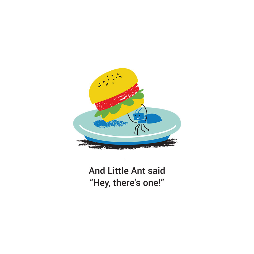 Bedtime stories for babies 'Little Ants Big Plan' page 17