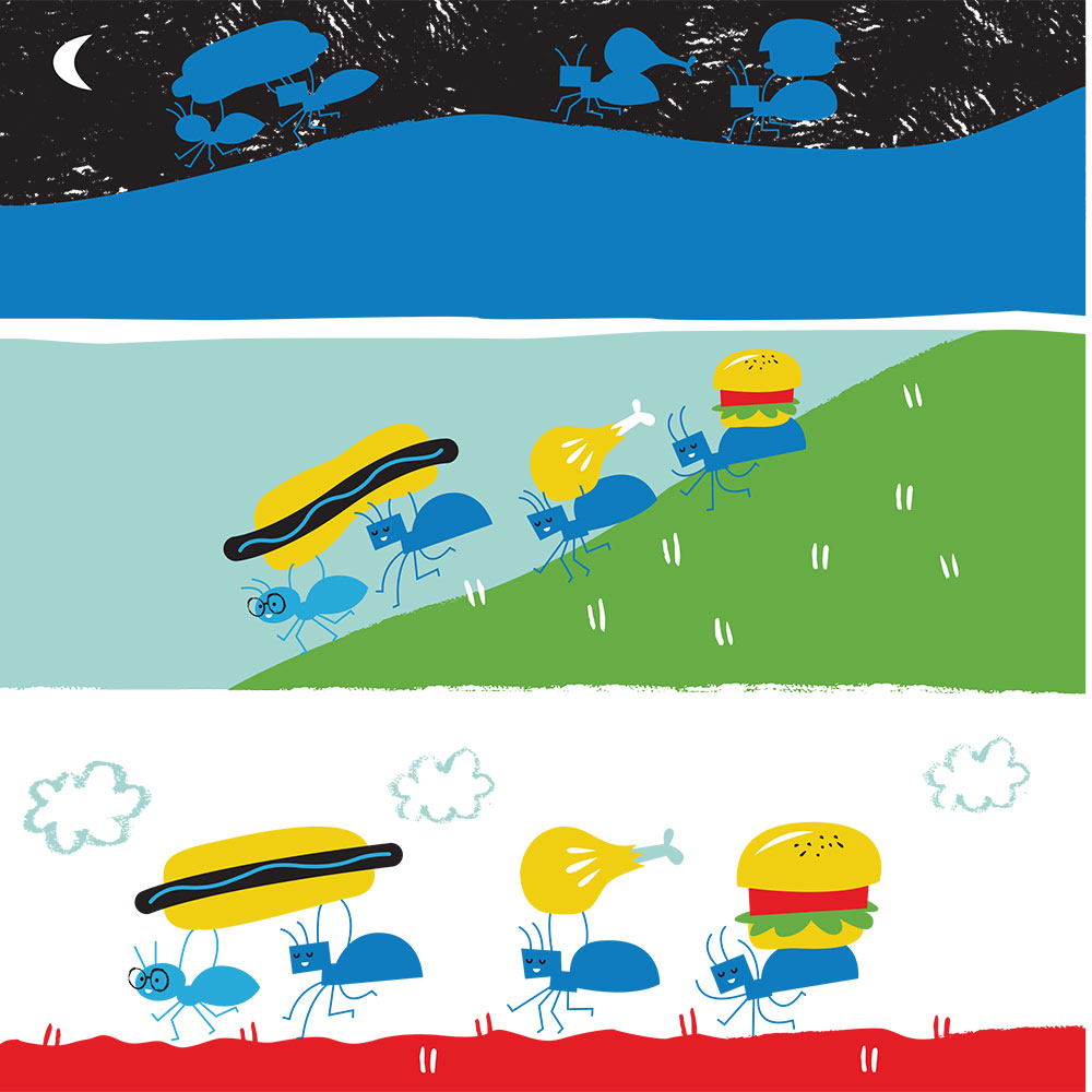 Bedtime stories for babies 'Little Ants Big Plan' page 18