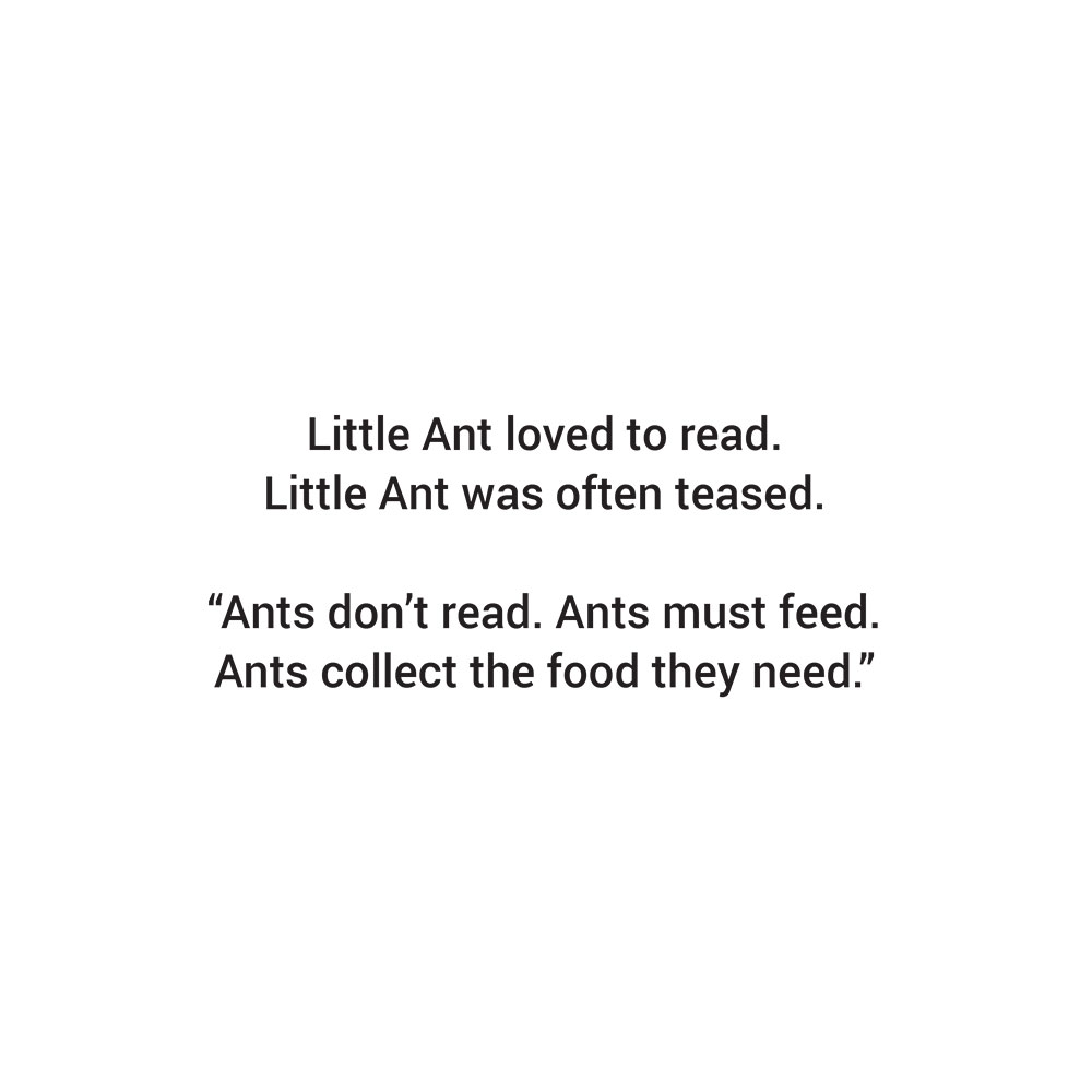 Bedtime stories for babies 'Little Ants Big Plan' page 2