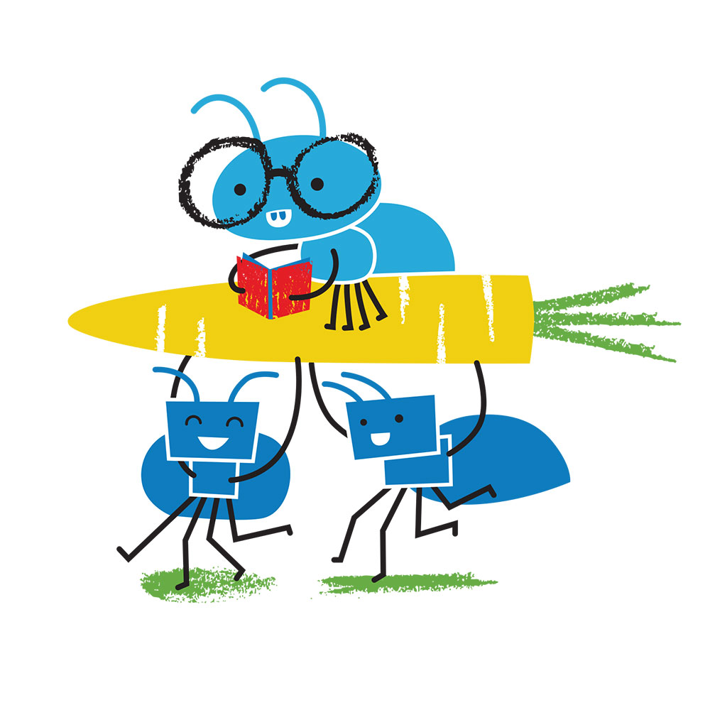 Bedtime stories for babies 'Little Ants Big Plan' page 27