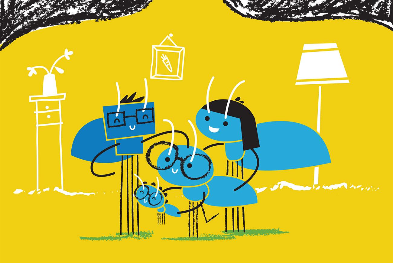 Bedtime stories for babies 'Little Ants Big Plan' cover illustration