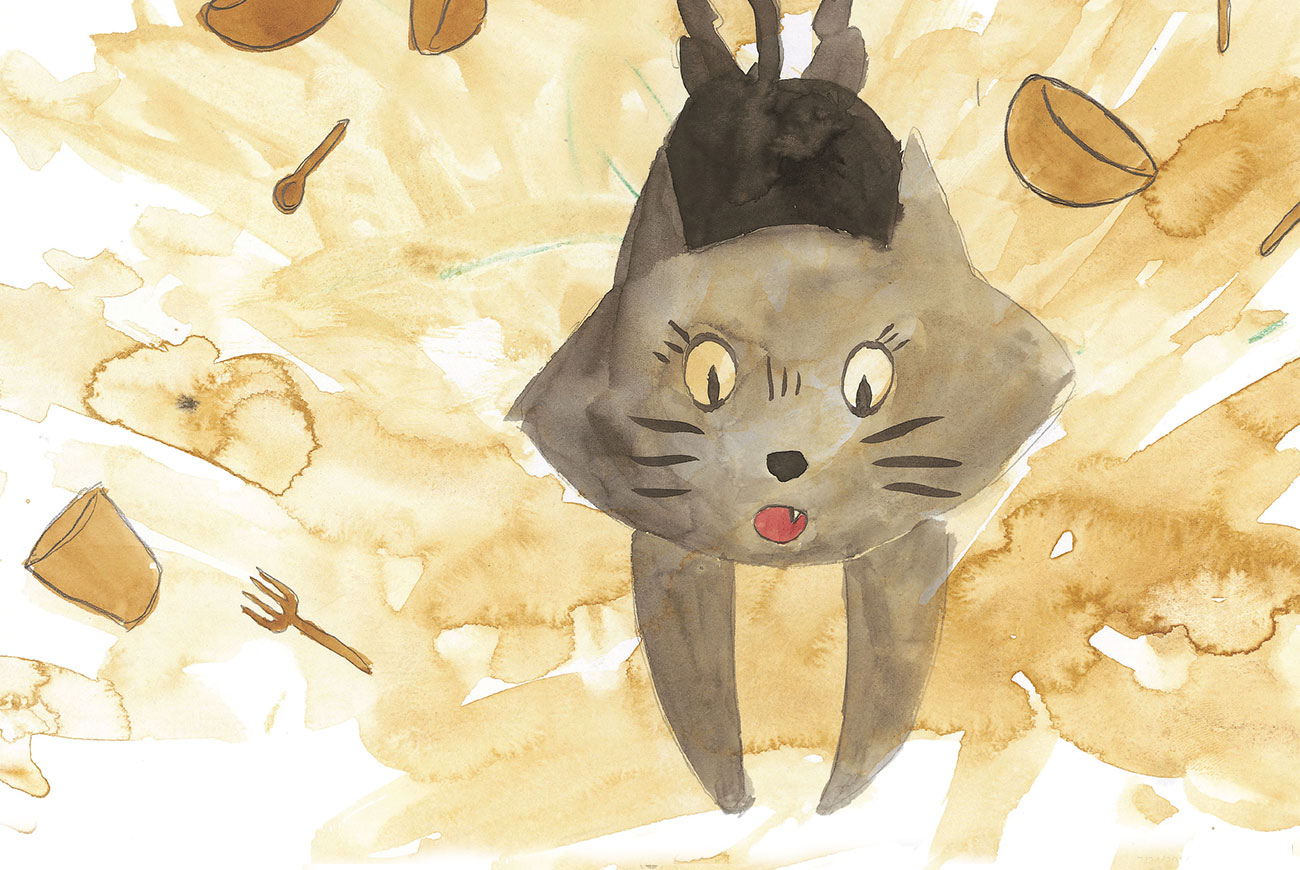 Cover Illustration of cat for Kids Bedtime Story Picture Book 'It Wasn't Me'