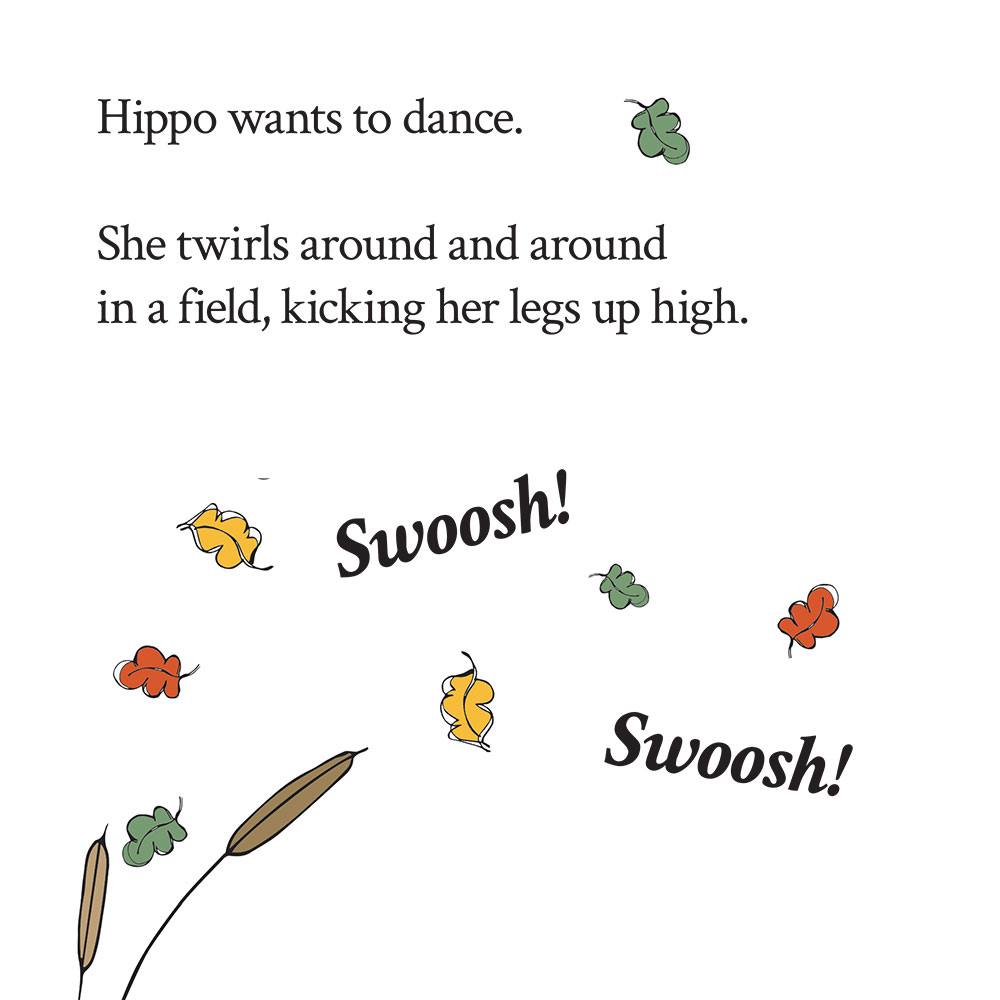 Bedtime stories for babies 'Hippo Wants to Dance' page 10