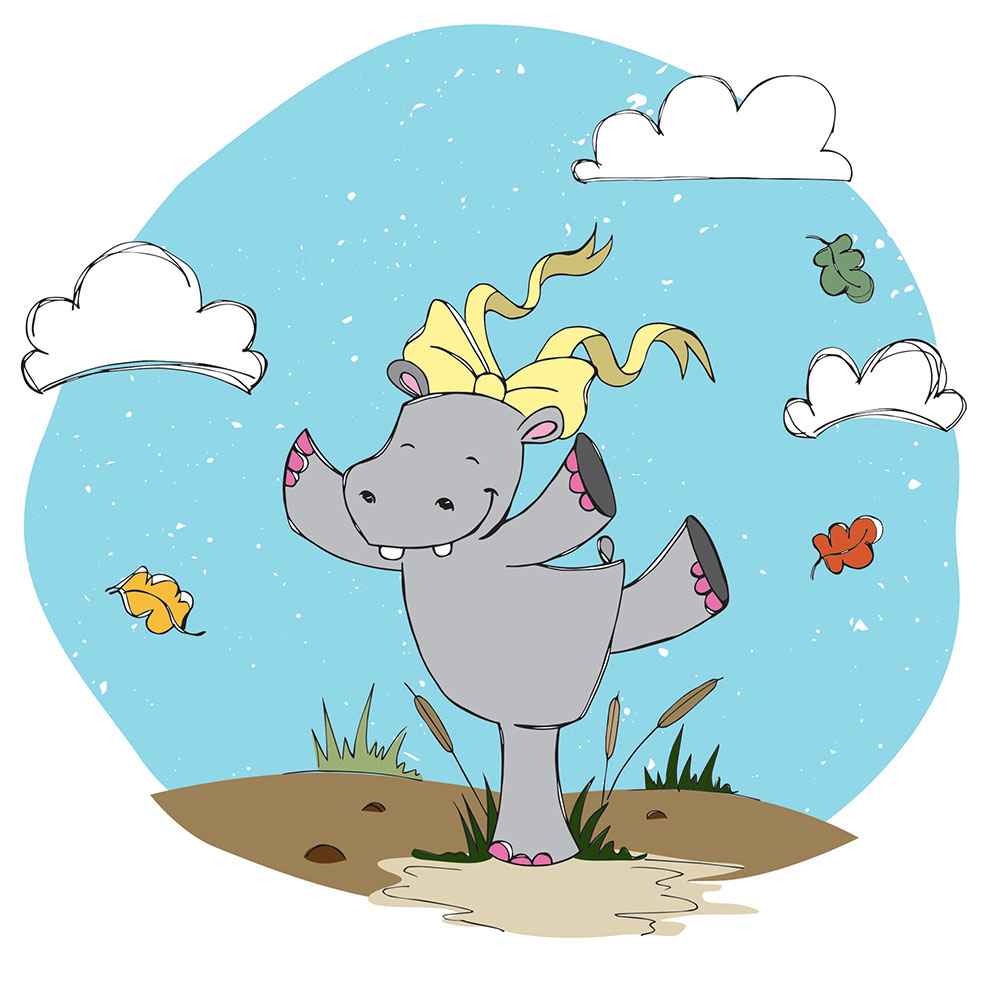 Bedtime stories for babies 'Hippo Wants to Dance' page 11