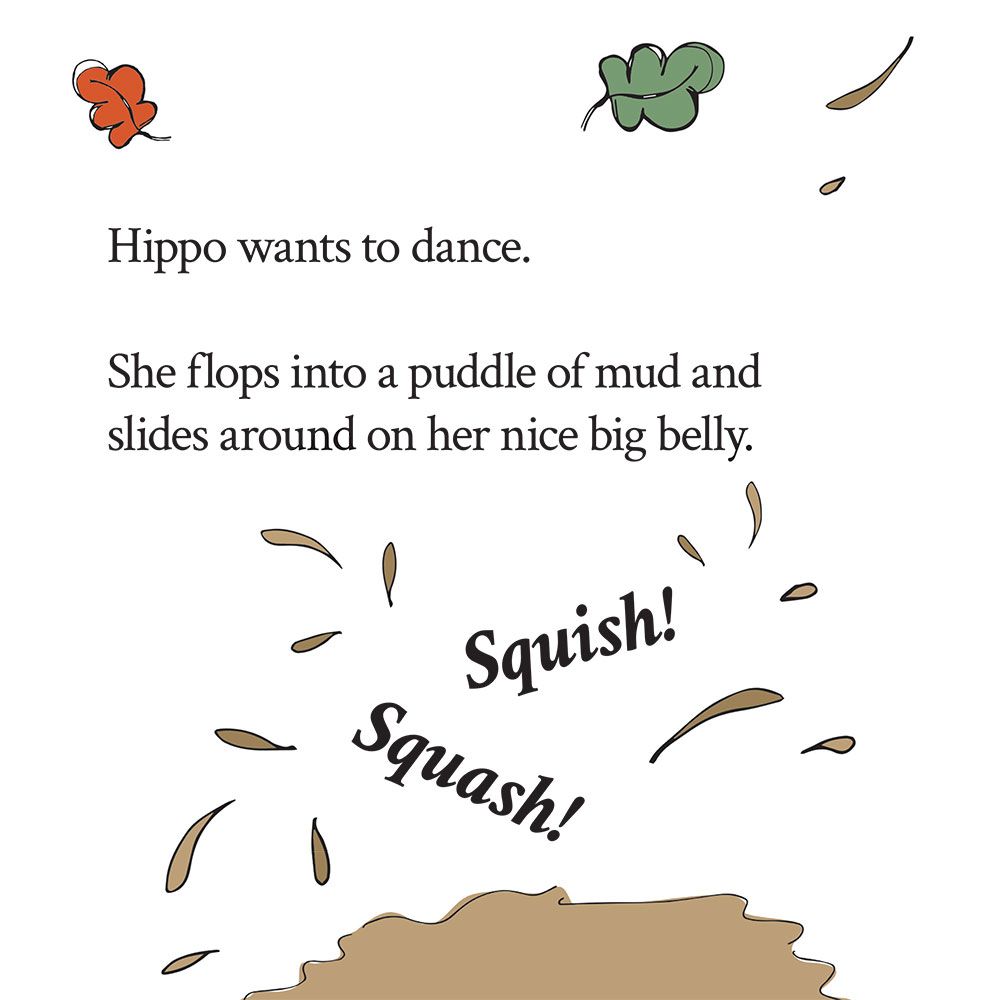 Bedtime stories for babies 'Hippo Wants to Dance' page 14