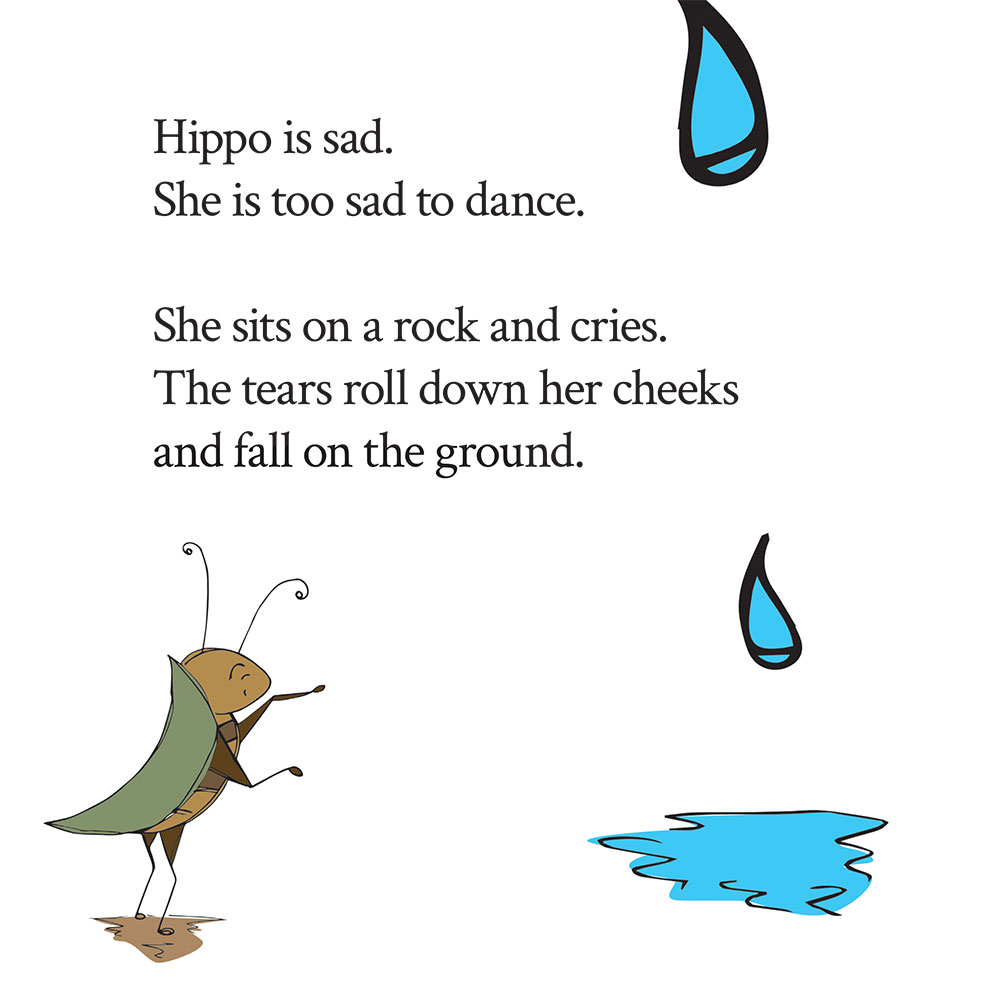 Bedtime stories for babies 'Hippo Wants to Dance' page 18