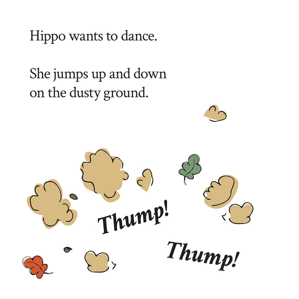 Bedtime stories for babies 'Hippo Wants to Dance' page 2