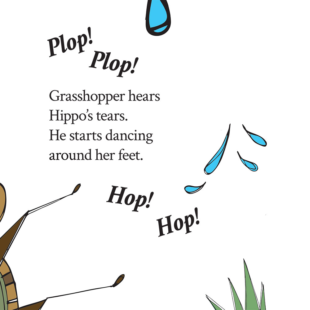 Bedtime stories for babies 'Hippo Wants to Dance' page 20