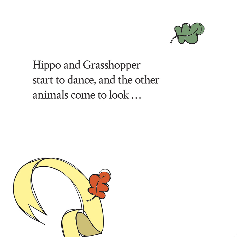 Bedtime stories for babies 'Hippo Wants to Dance' page 22