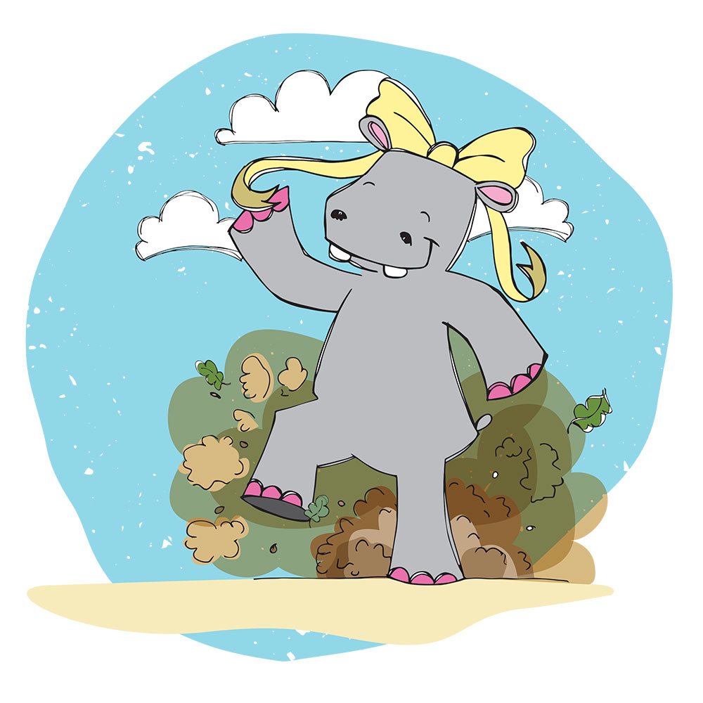 Bedtime stories for babies 'Hippo Wants to Dance' page 3