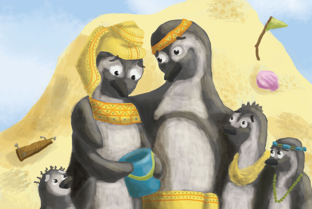 Bedtime story Mrs Penguin's Perfect Palace cover illustration