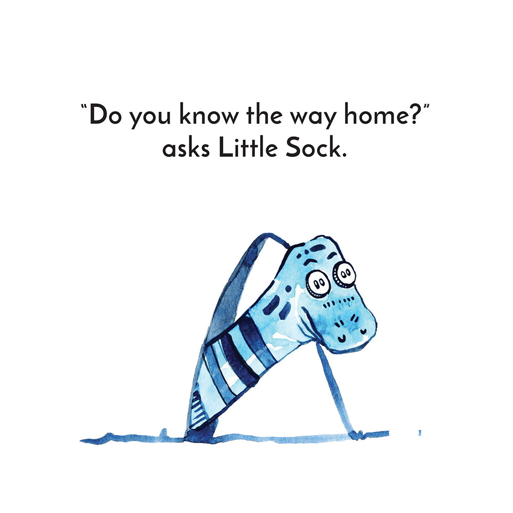 Free children's story picture book - Little Sock page 10