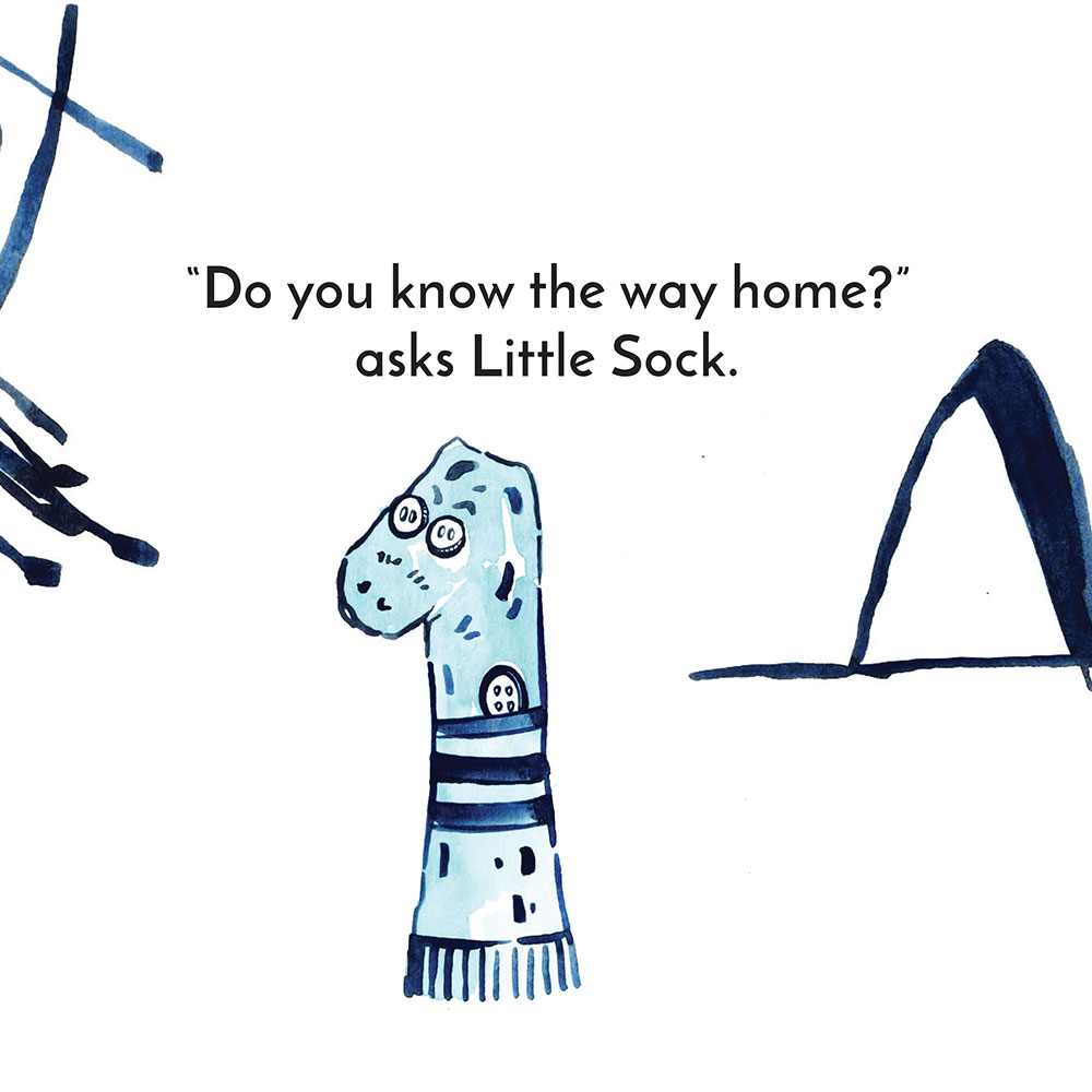 Free children's story picture book - Little Sock page 15