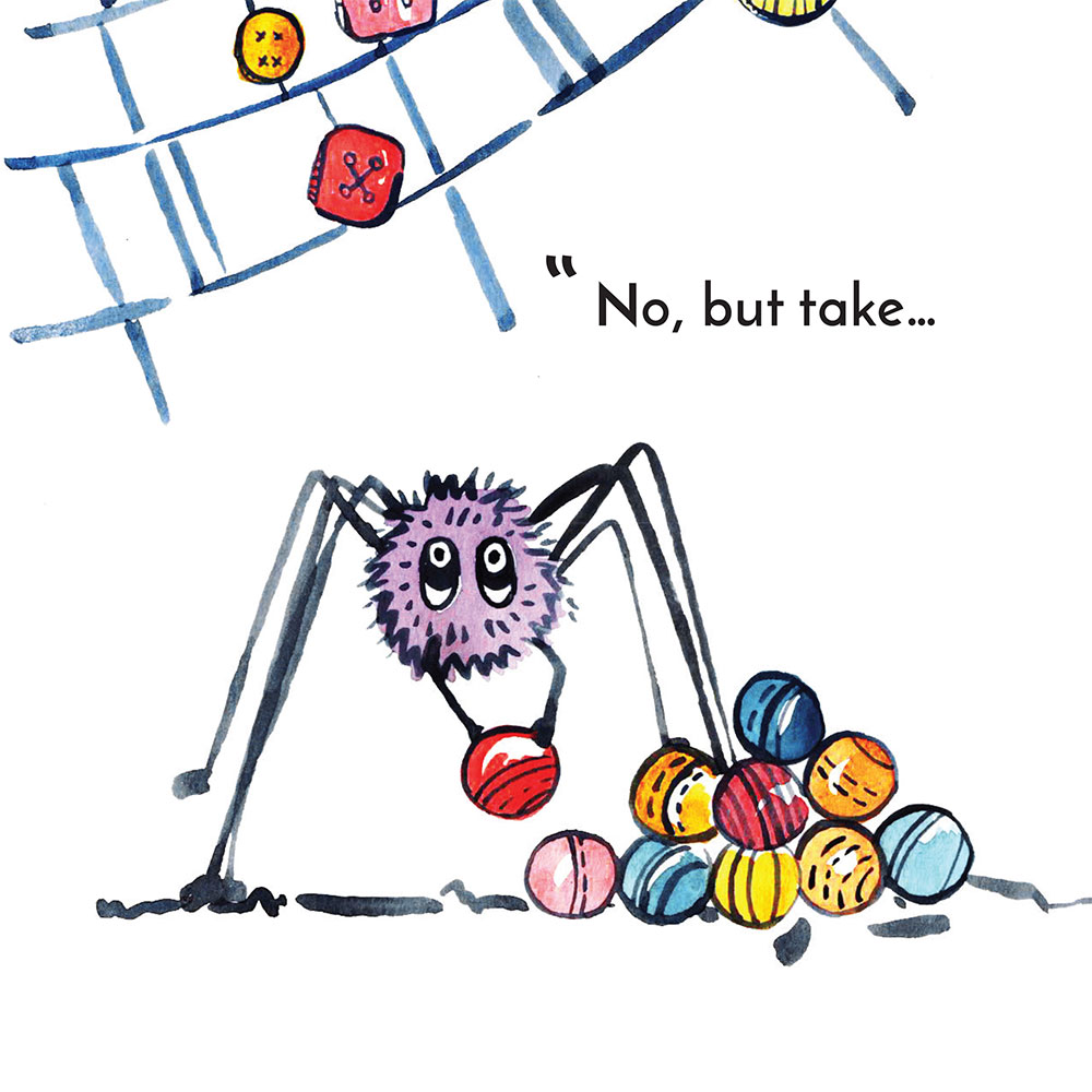 Free children's story picture book - Little Sock page 16