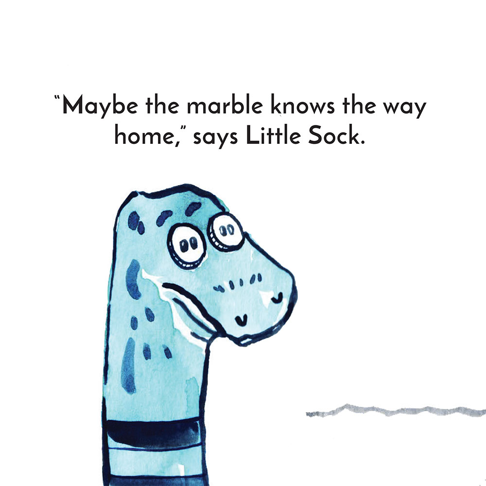 Free children's story picture book - Little Sock page 18