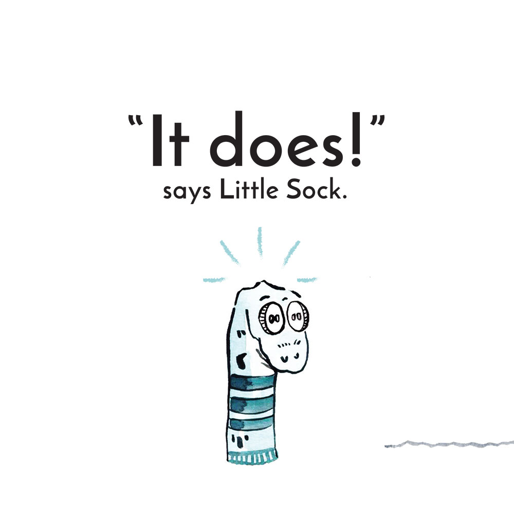 Free children's story picture book - Little Sock page 20