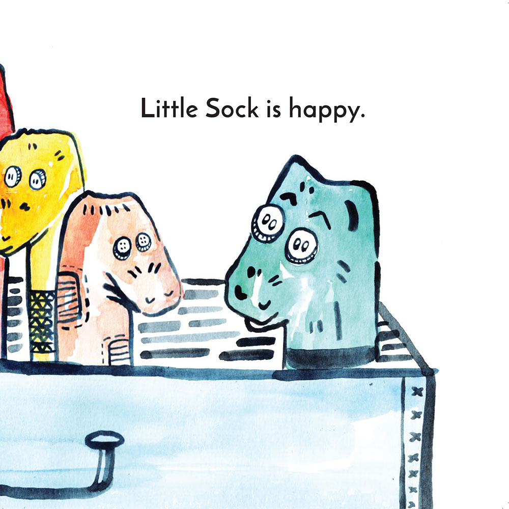 Free children's story picture book - Little Sock page 23