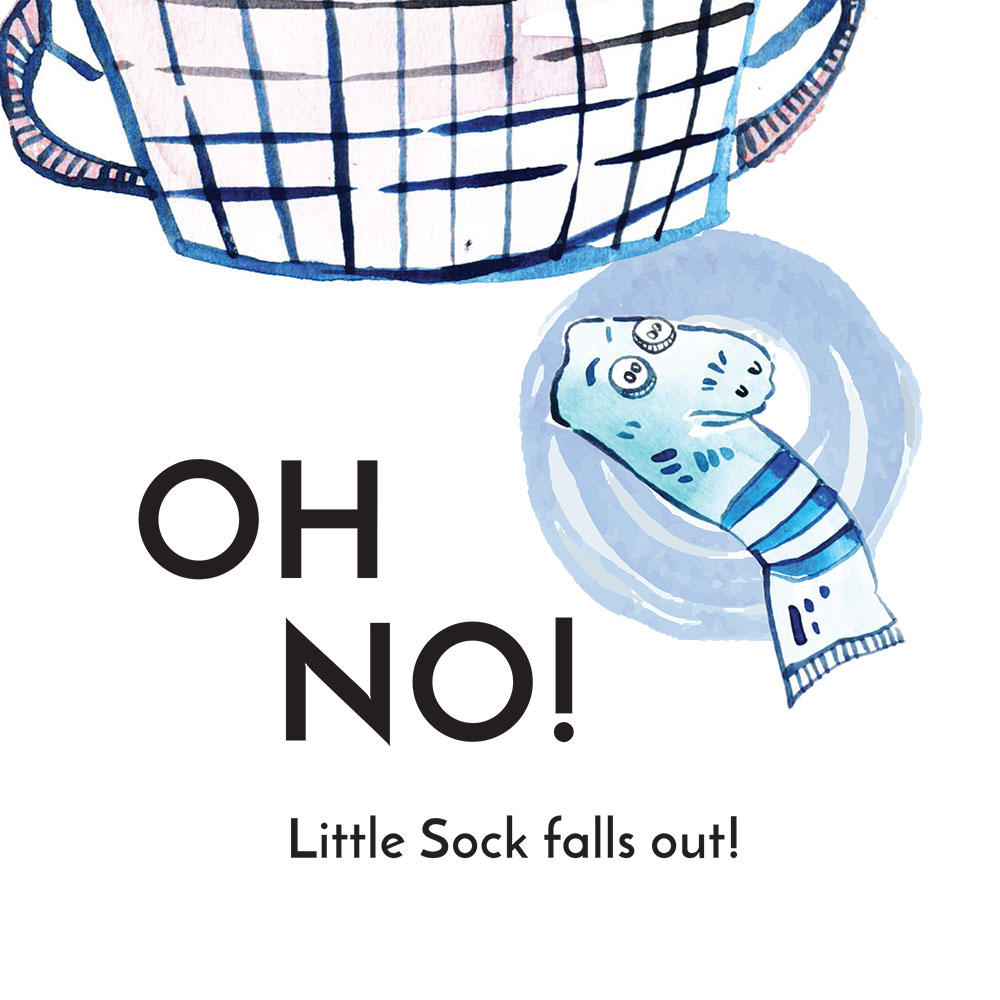 Free children's story picture book - Little Sock page 4
