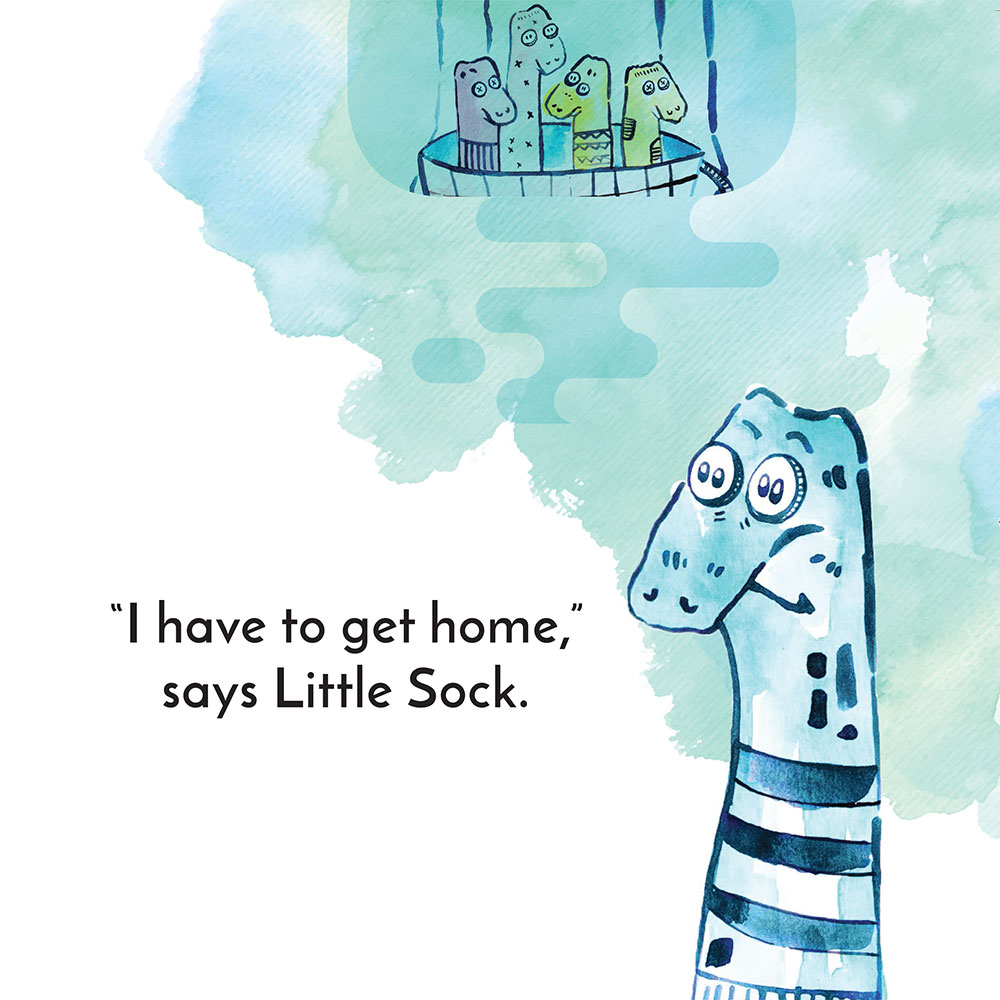 Free children's story picture book - Little Sock page 5