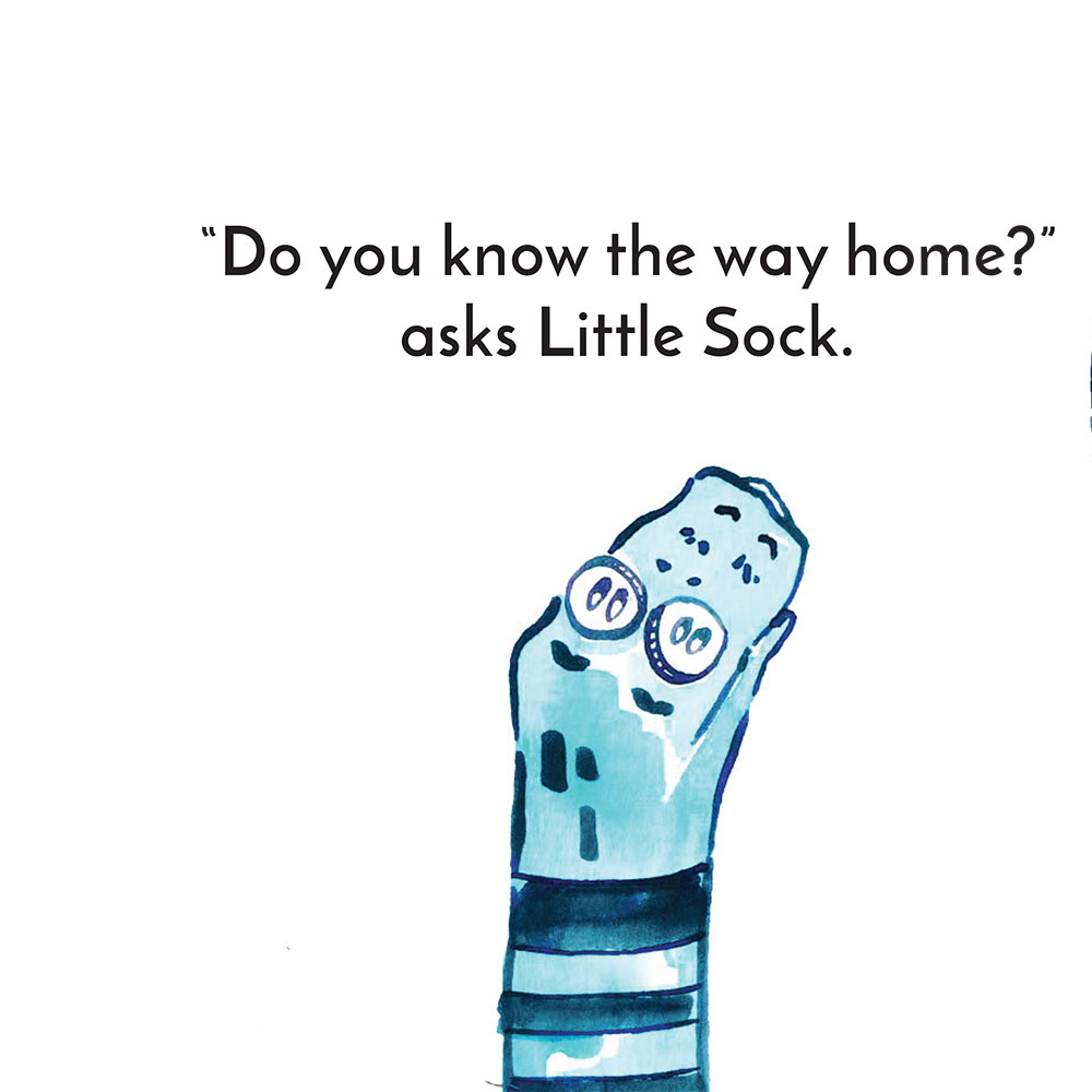 Free children's story picture book - Little Sock page 6