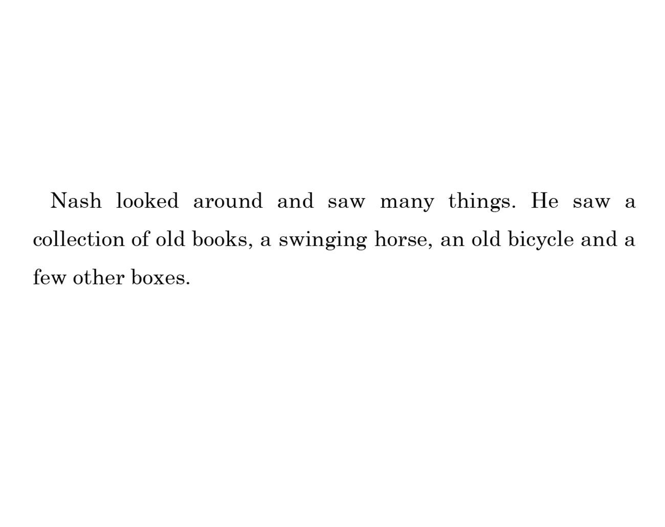 kids short story 'Down the memory lane with nash' by uma bala devarakonda - page 12