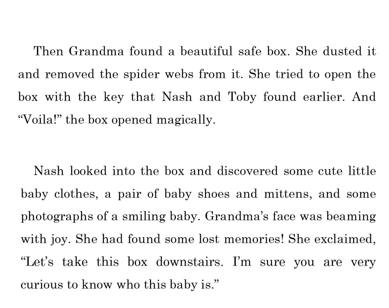kids short story 'Down the memory lane with nash' by uma bala devarakonda - page 14