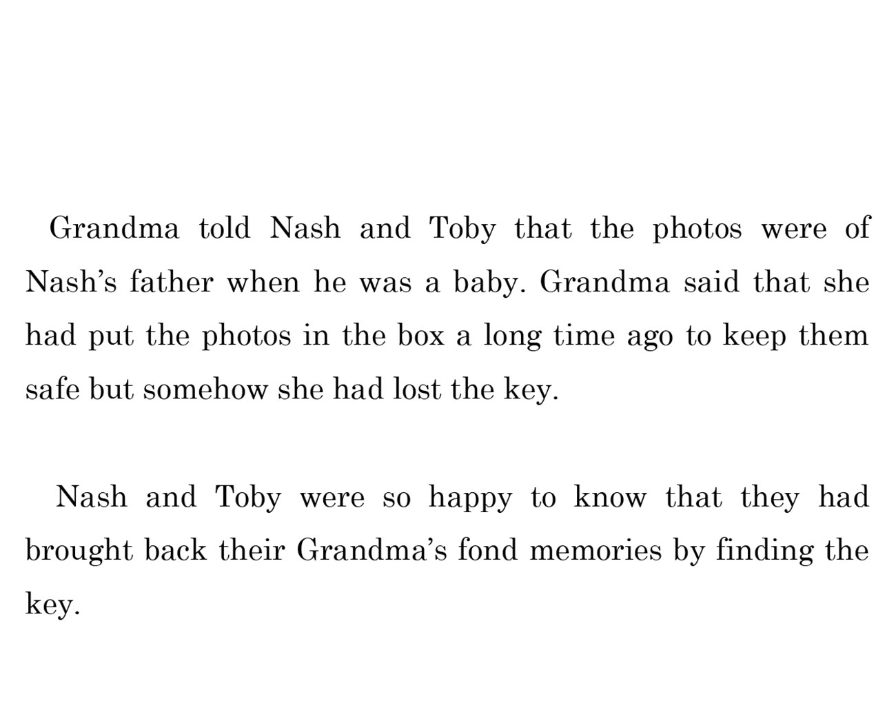 kids short story 'Down the memory lane with nash' by uma bala devarakonda - page 16