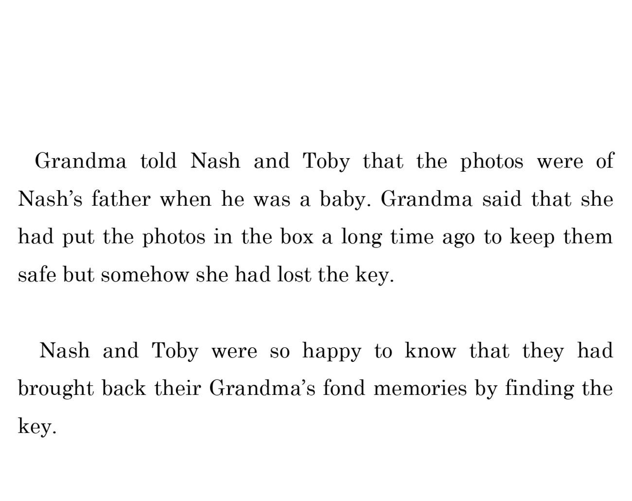 kids short story 'Down the memory lane with nash' by uma bala devarakonda - page 16