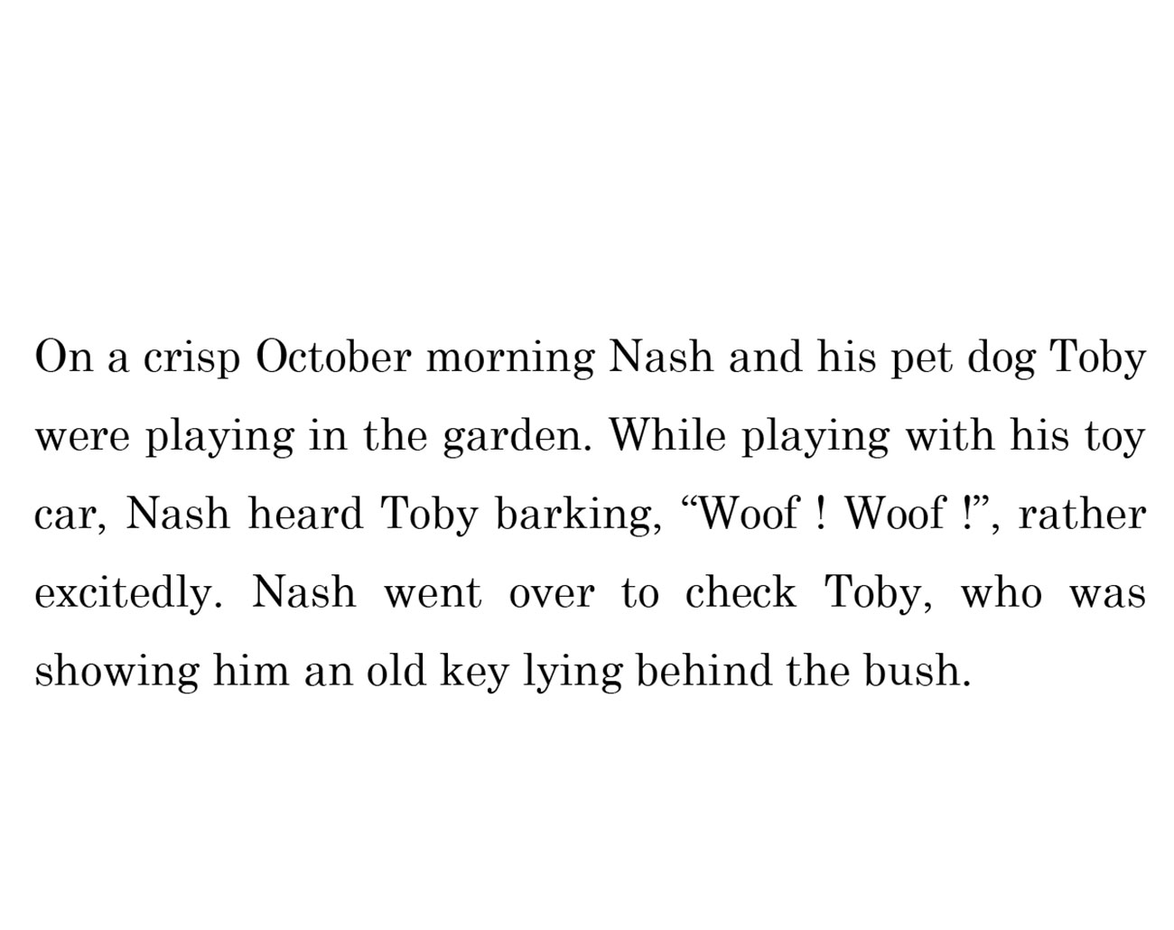 kids short story 'Down the memory lane with nash' by uma bala devarakonda - page 4