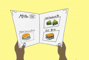 Poems for Kids - Slice of Life - Header illustration of hands and menu