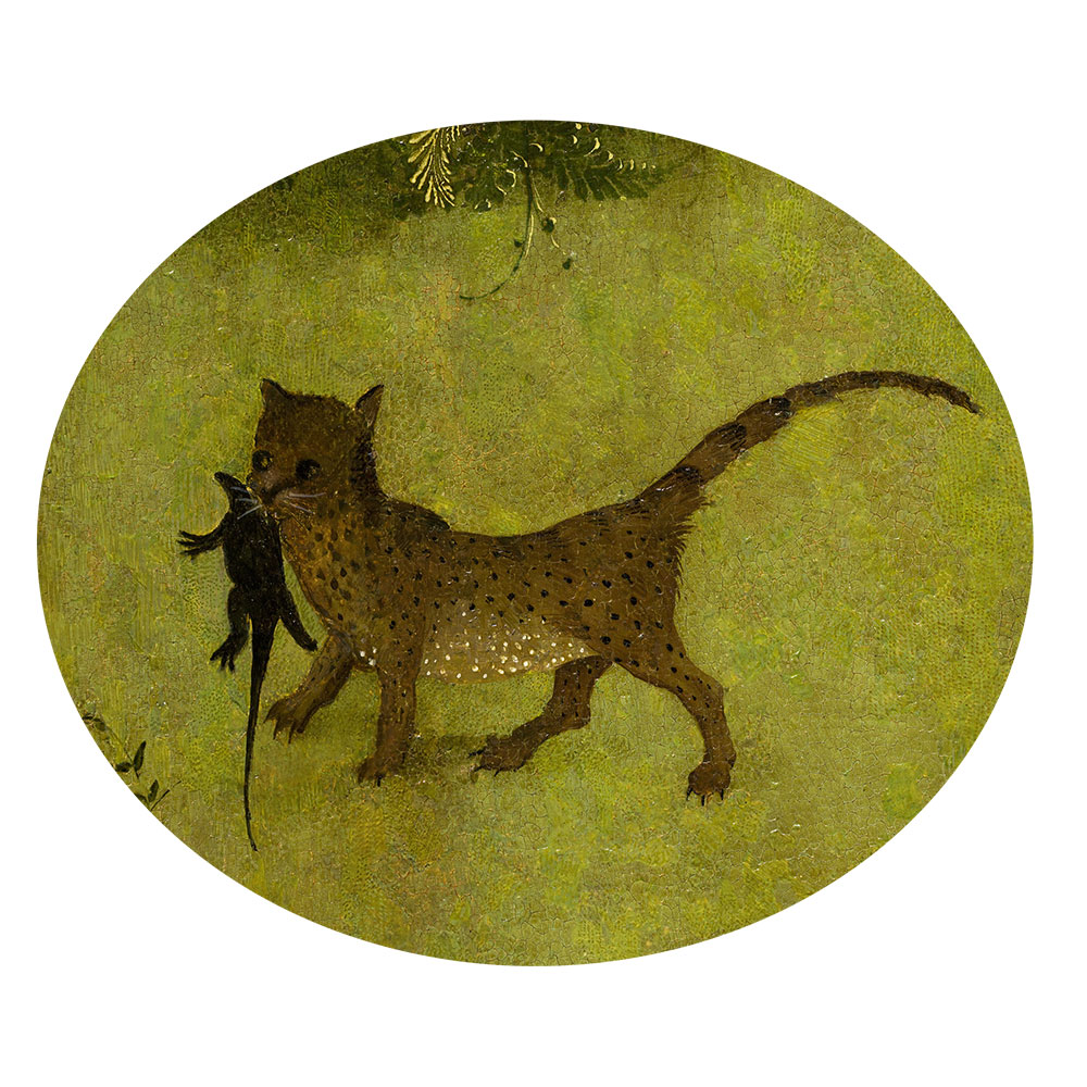 Children's search book - The Garden of Earthly Delights by Hieronymus Bosch - leopard with a lizard
