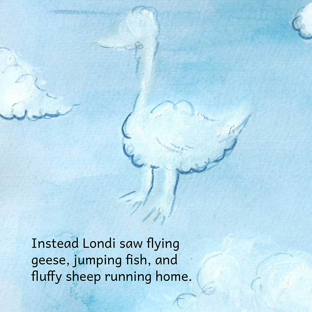 Londi The Dreaming Girl free picture book page 4