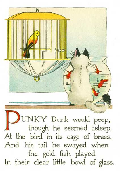 Poems for kids - Punky Dunk and the Goldfish - Page 4 illustration