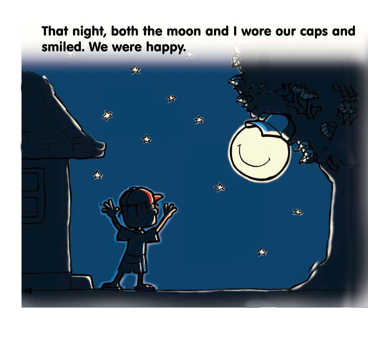 Free bedtime story The Moon and the Cap - page 10