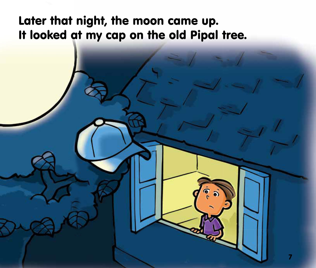 Free bedtime story The Moon and the Cap - page 7