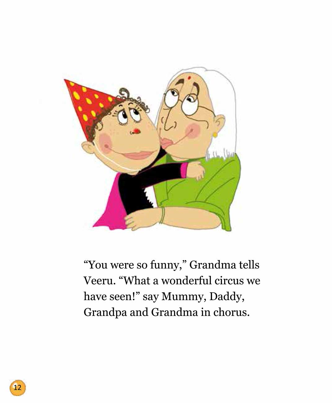 Bedtime stories 'Veeru Goes to the Circus' free picture book page 12