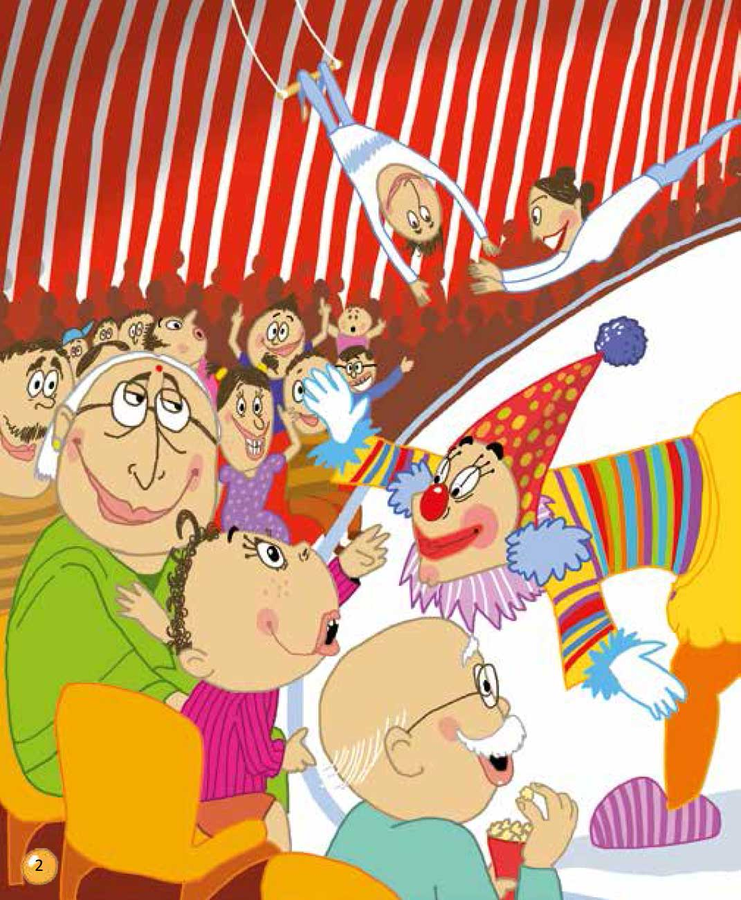 Bedtime stories 'Veeru Goes to the Circus' free picture book page 2