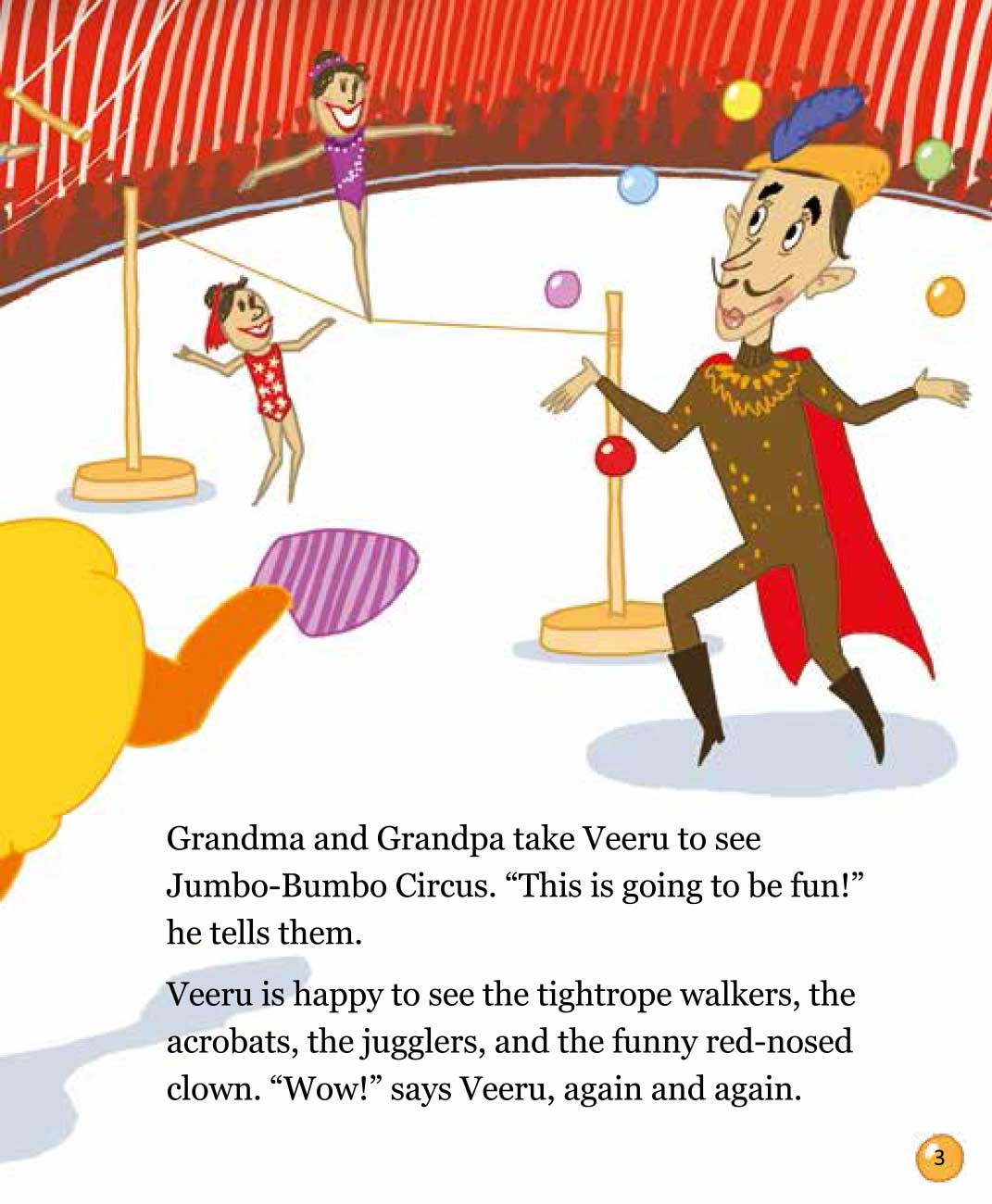 Bedtime stories 'Veeru Goes to the Circus' free picture book page 3
