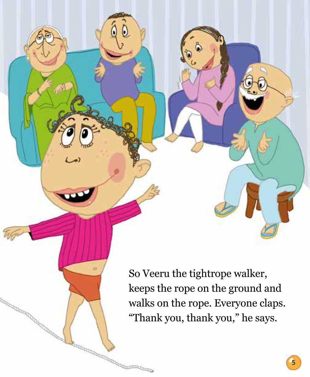 Bedtime stories 'Veeru Goes to the Circus' free picture book page 5