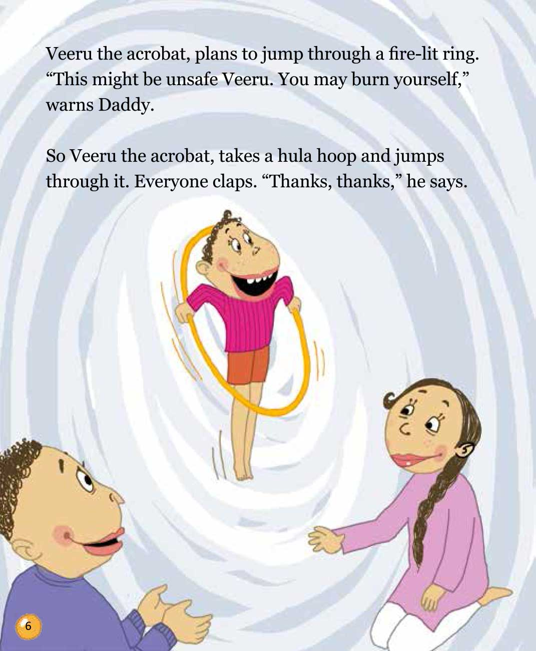Bedtime stories 'Veeru Goes to the Circus' free picture book page 6