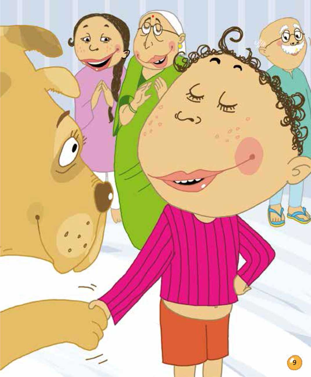 Bedtime stories 'Veeru Goes to the Circus' free picture book page 9