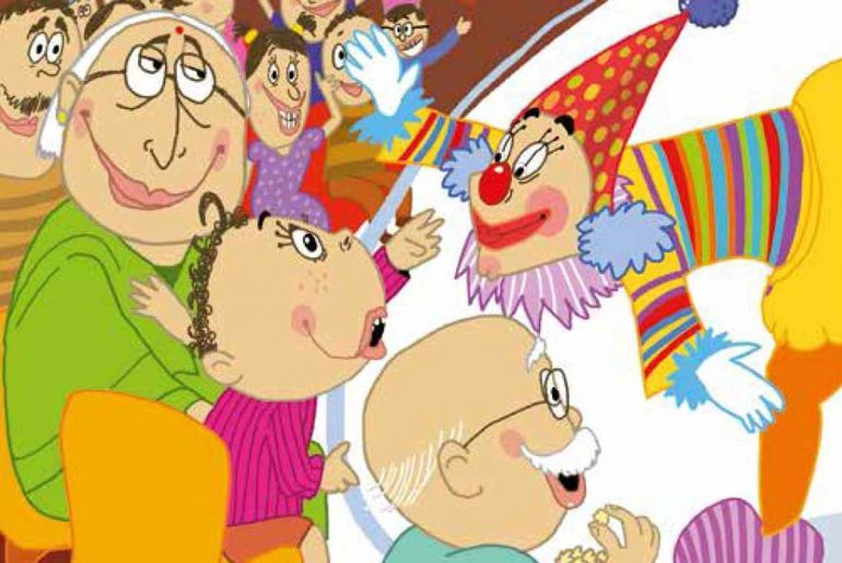 Header illustration for free kids books Veeru Goes to the Circus