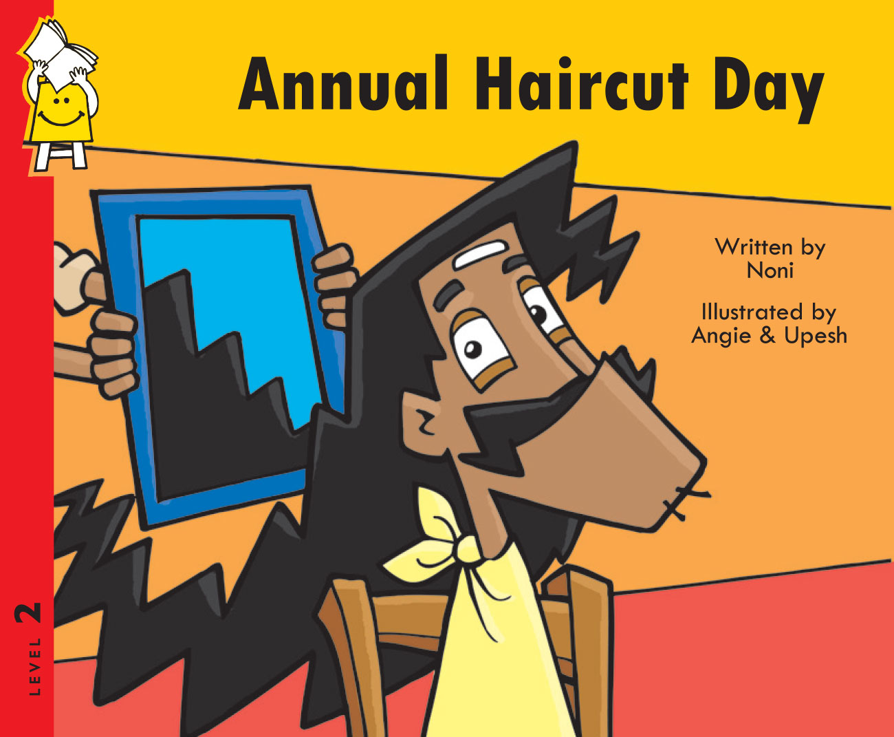 Cover page illustration of Annual Haircut Day free short story for kids