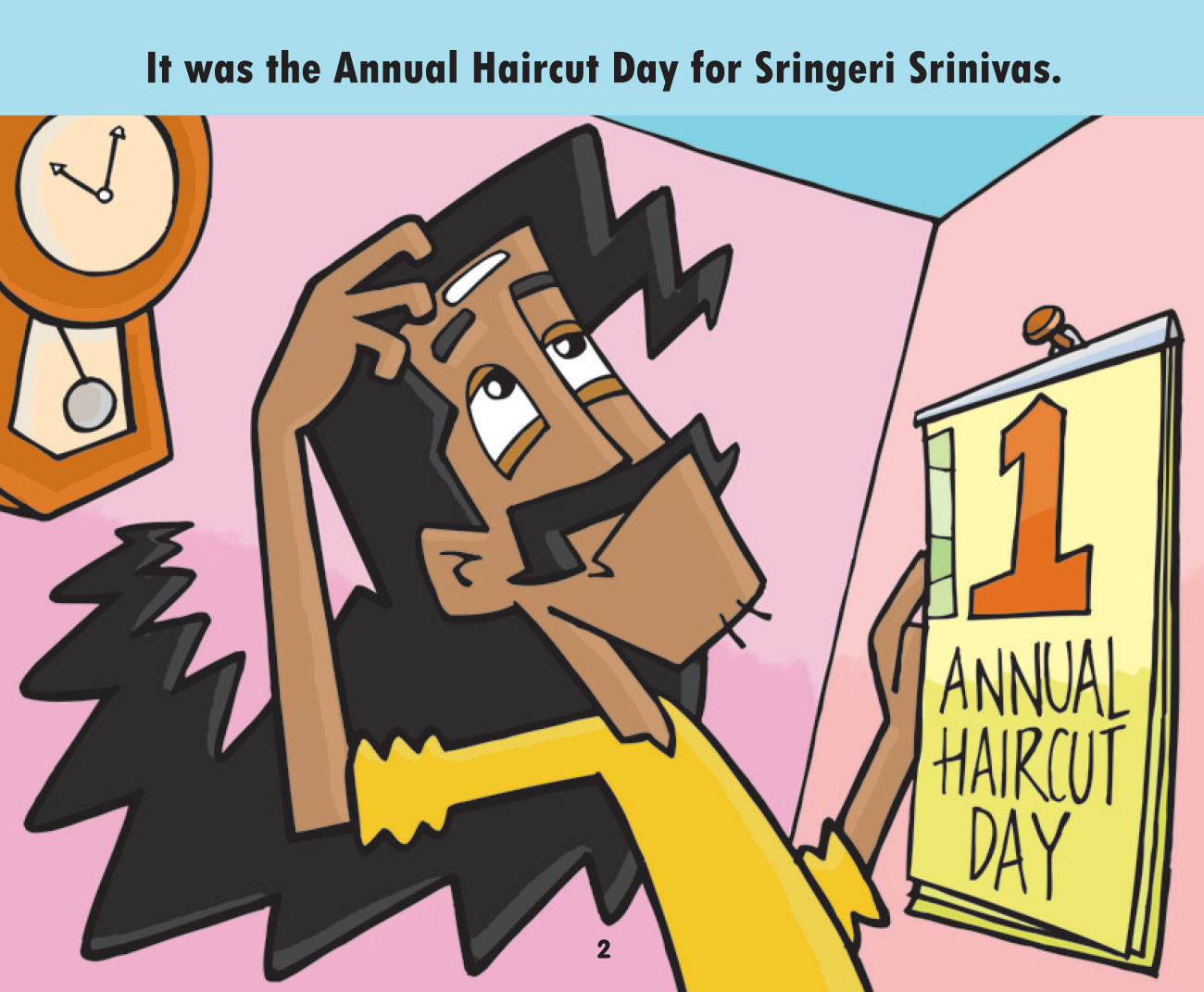 Free short story for kids - Annual Haircut Day - page 2