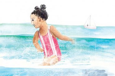 Title Illustration for Free Kids Short Story The Sea