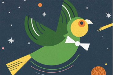 Header illustration for free kids bedtime story Small Bird's Big Adventure