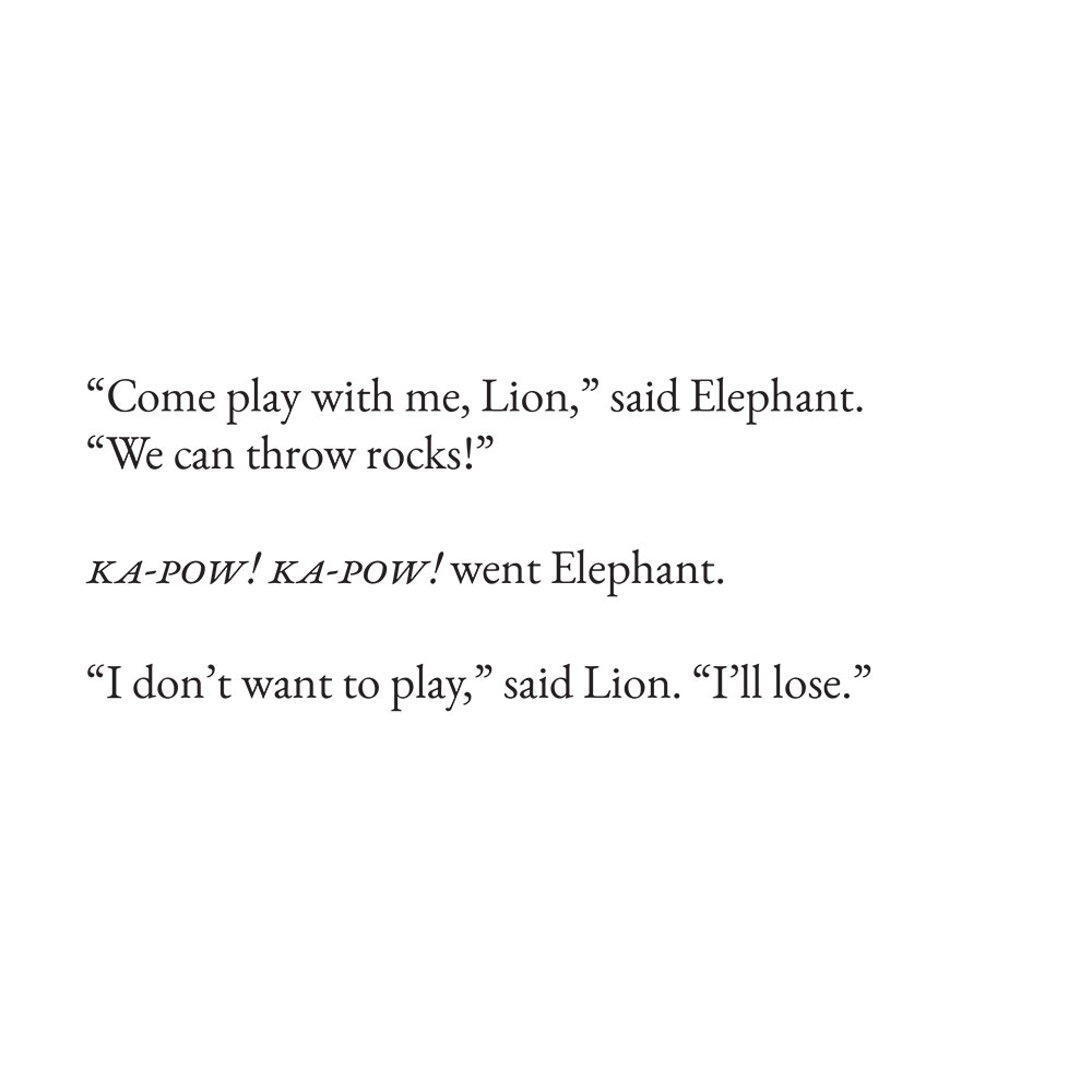 Free Bedtime Stories - The Lion Who Wouldn't Try - page 6 illustration