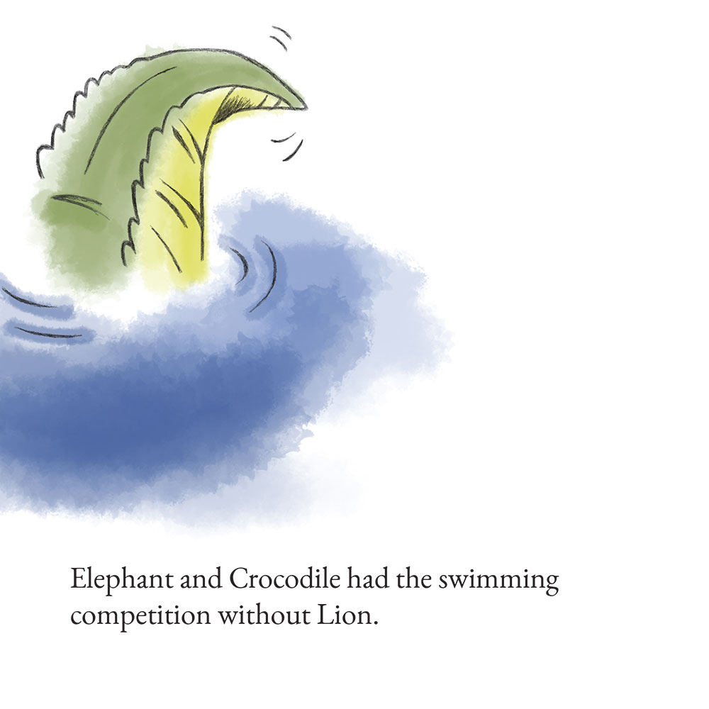 Free Bedtime Stories - The Lion Who Wouldn't Try - page 13 illustration