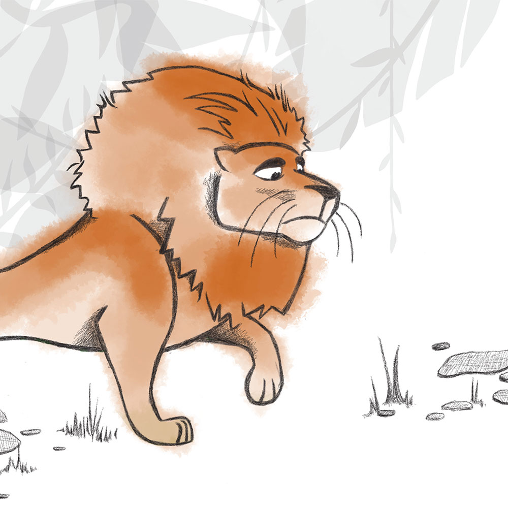 Free Bedtime Stories - The Lion Who Wouldn't Try - page 20 illustration