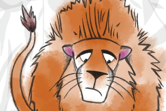 Free Bedtime Stories - The Lion Who Wouldn't Try - header illustration